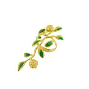 Anello argento dorato limoneto J-A87