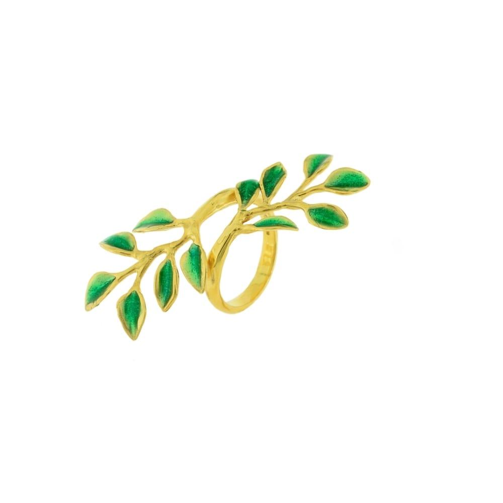 Anello argento dorato limoneto J-A88