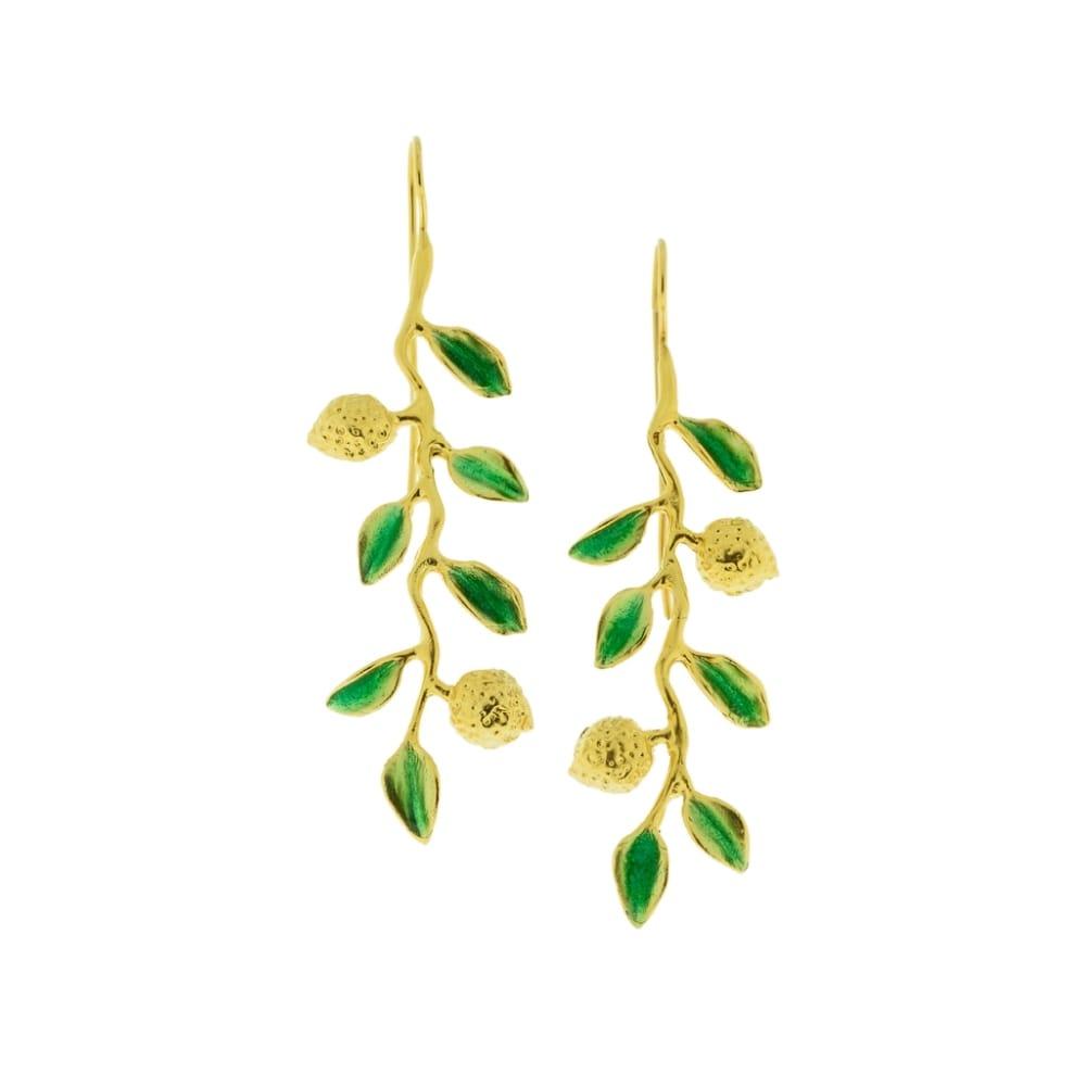 Orecchini argento dorato limoneto J-E134