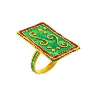 Anello argento dorato maduni pinti J-A93