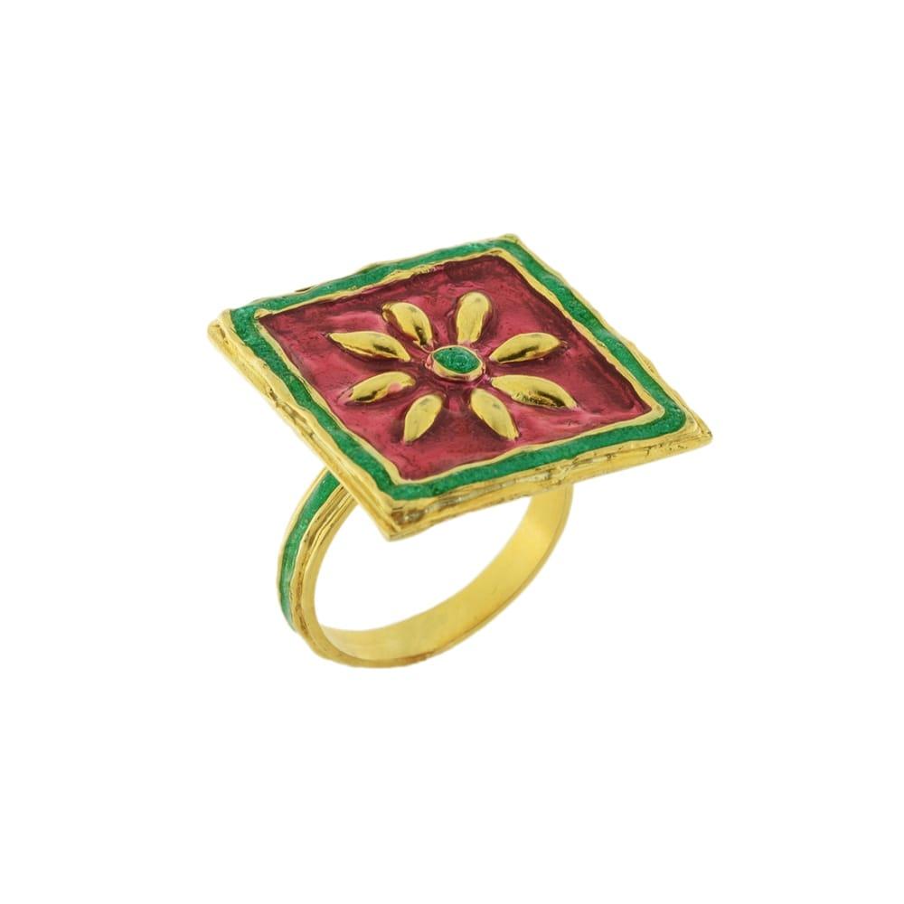 Anello argento dorato maduni pinti J-A92