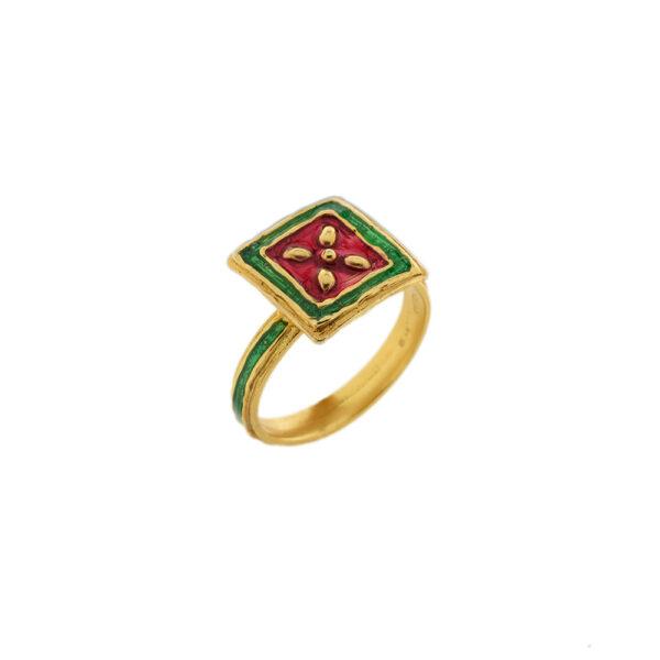 Anello Maduni Pinti J-A101 verde