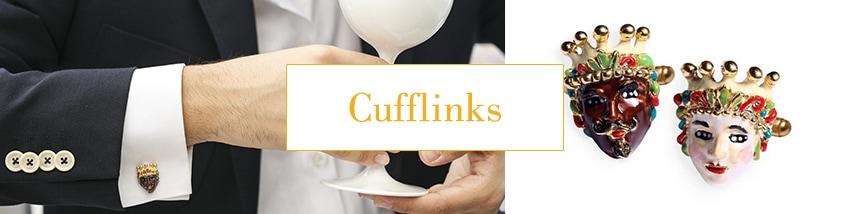 Sicilian cufflinks giuliana di franco
